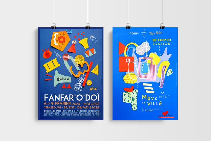 Affiches festival et exposition