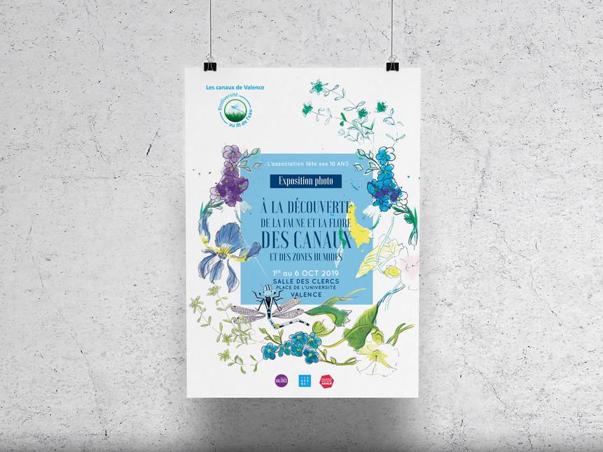 Affiche Expo Canaux de Valence