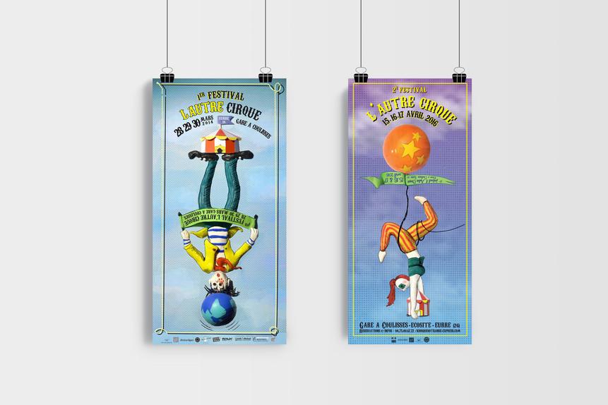 affiches - festival de cirque