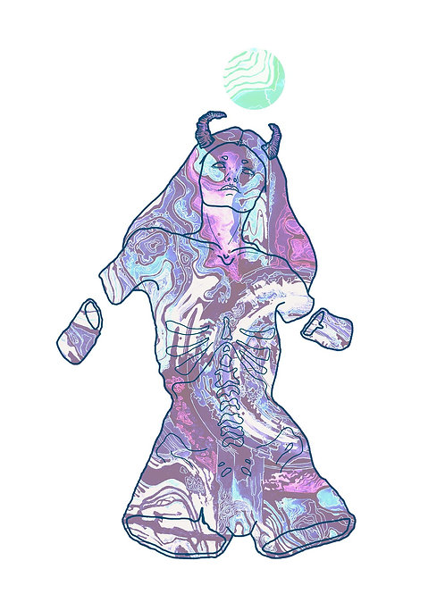 Alien Girl A5 Print