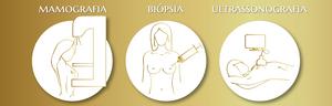 campanha de autoexame promovida pela Lady's Secret para a prevenção do câncer de mama demonstrando os principais métodos especializados em diagnóstico, sendo a mamografia, biópsia e ultrassom