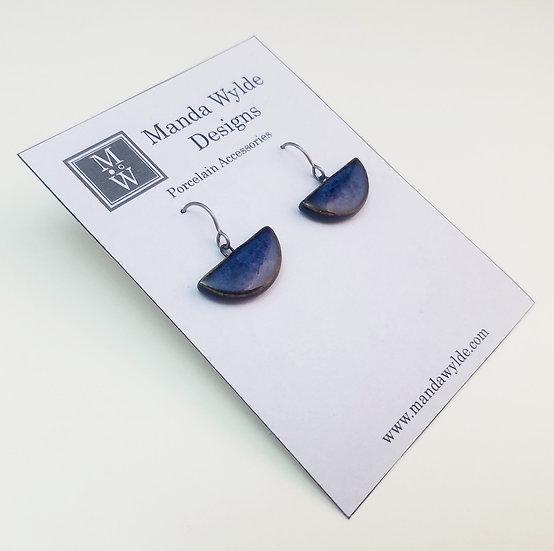 Small Chandelier Earrings in Deep Sea