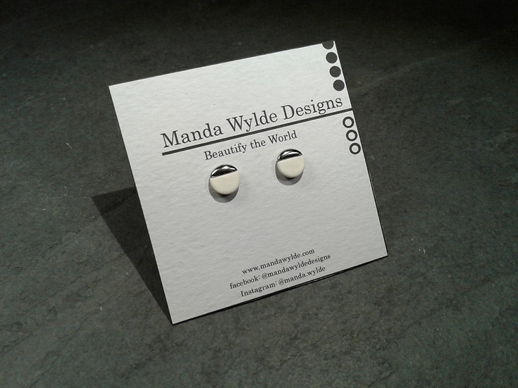 White and Platinum Lustre Studlets