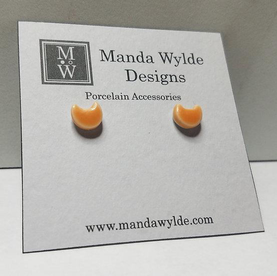 Apricot Kitten Post Earrings