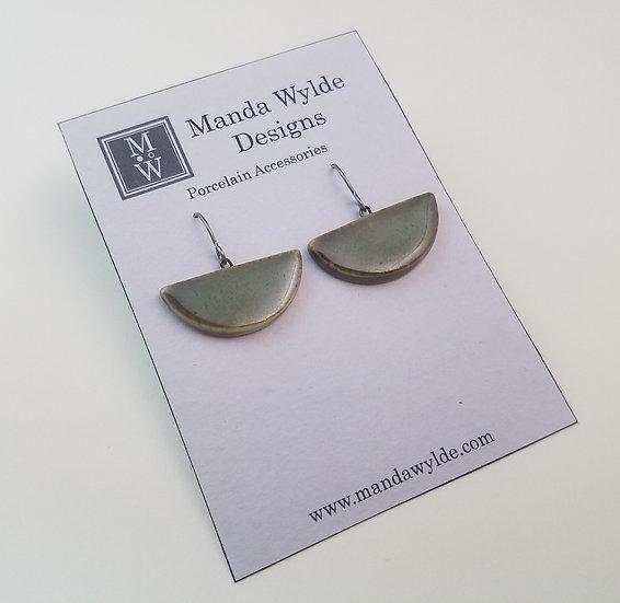 Large Chandelier Earrings in Brilliant Moss