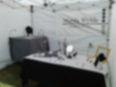 Manda Wylde Designs Outdoor Tent Set Up.