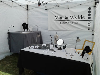 Manda Wylde Designs Outdoor Tent Set Up.