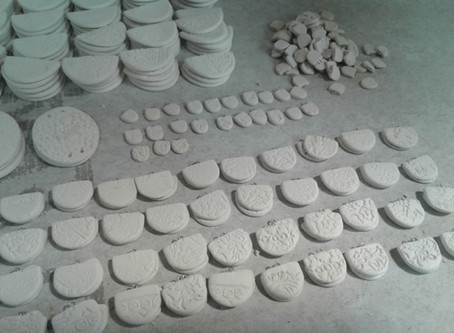 Porcelain Embellishments: Buttons and Beads