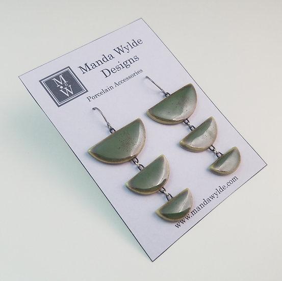 Tri-Level Chandelier Earrings in Brilliant Moss