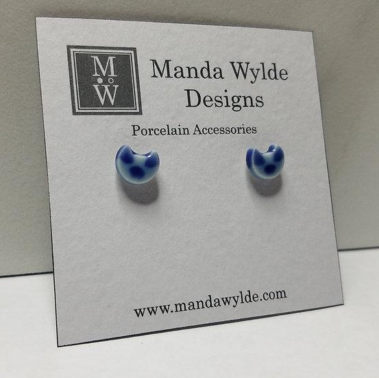 Blue Siamese Kitten Post Earrings