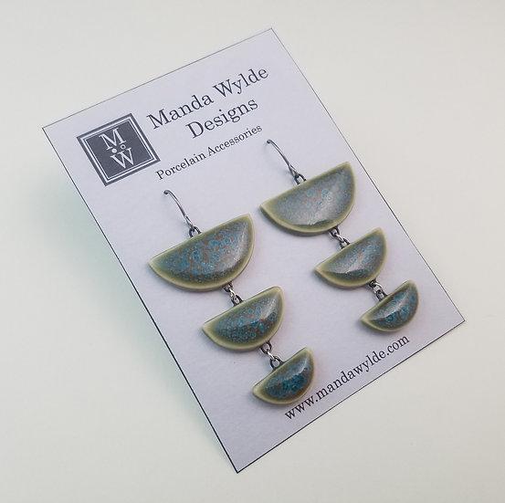 Tri-Level Chandelier Earrings in Tidepool