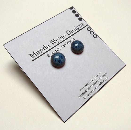 Blue Glazed Studs
