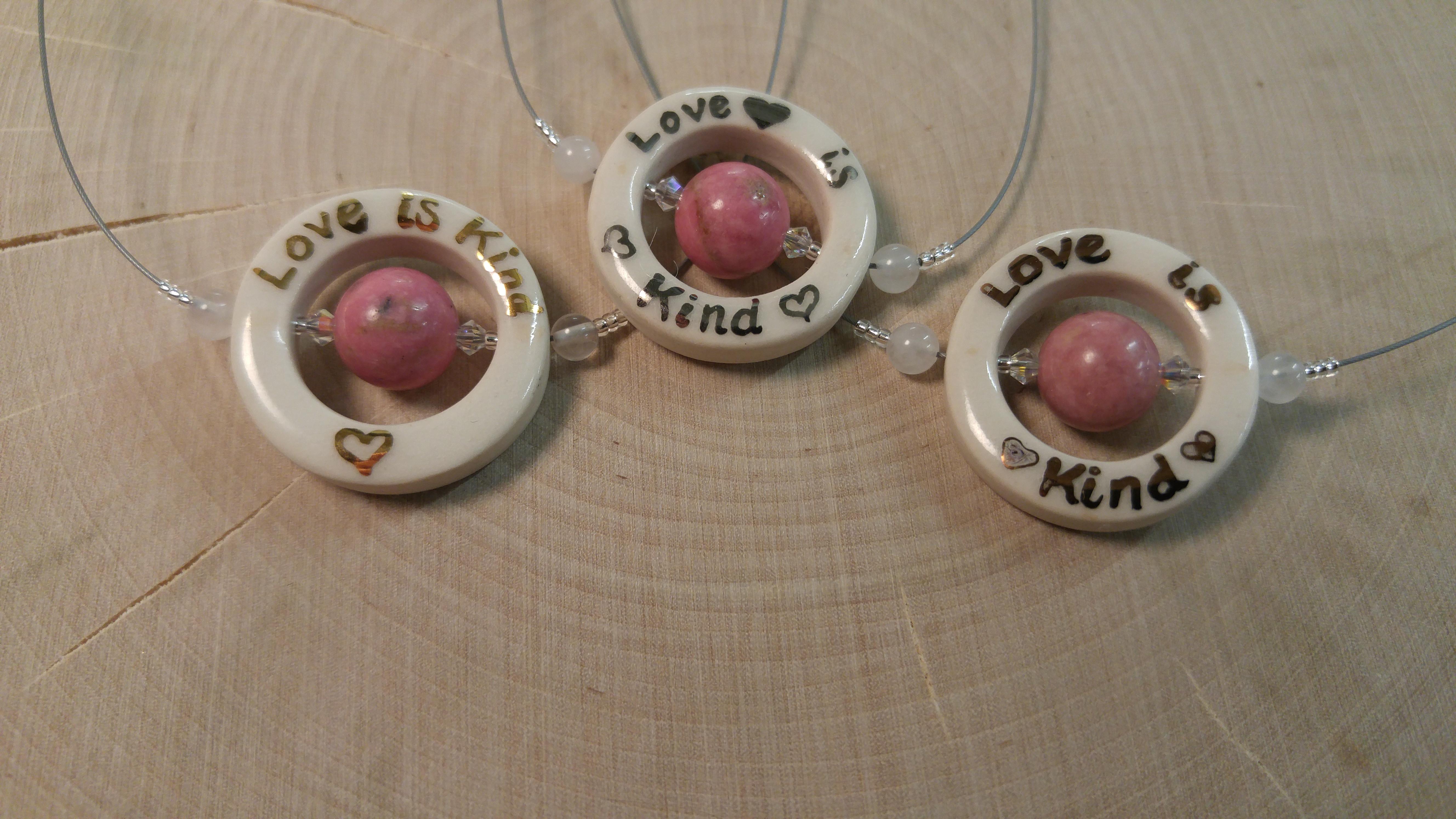 Love is Kind - Pendant Trio