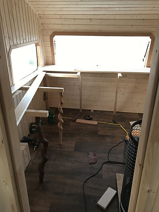 Wohnwagen Umbau Sauna