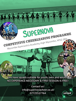 Supernova, competitive cheerleading programme in High Wycombe