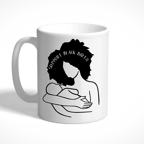 Support Black Birth Mug