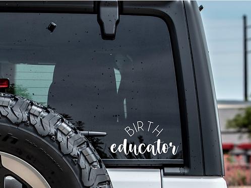 Birth Educator Car Decal