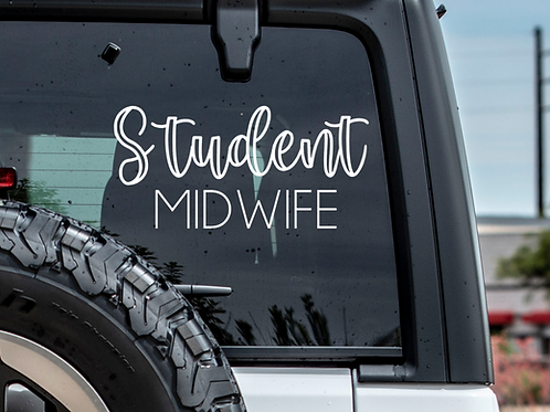 Student Midwife Car Decal