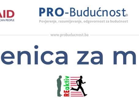 """Otvorene prijave za učešće u projektu """"Zenica za mir"""""""