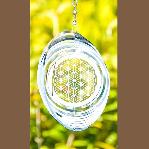 Blume des Lebens Mobile, 15,3 cm aus Edelstahl