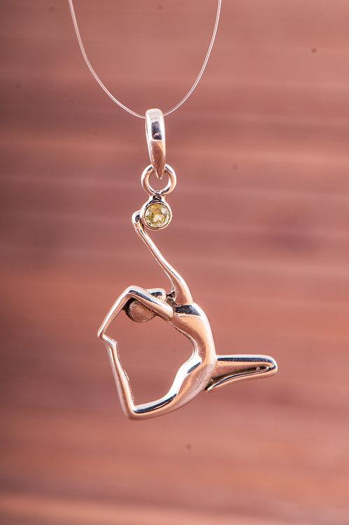 Taube, Asana Yoga, Anhänger Silber