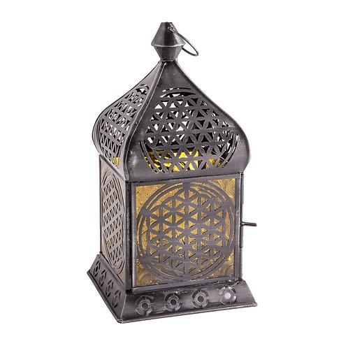 Orientalisches Licht Blume des Lebens, Zink, Antique