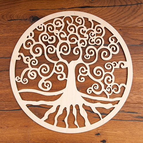 Yggdrasil aus Holz 30 cm
