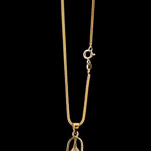 Fuchsschwanzkette 40 cm, Silber 925 vergoldet
