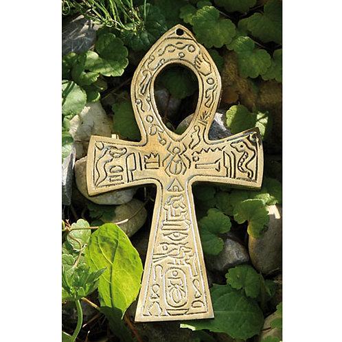Ankh Messing, mittel, mit ägyptischem Symbol, 15 cm