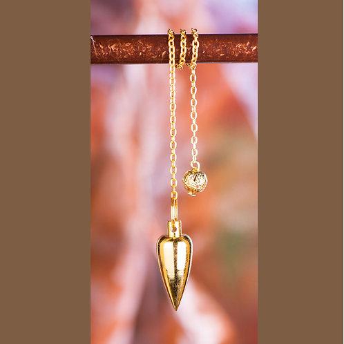 Zapfenpendel, vergoldet