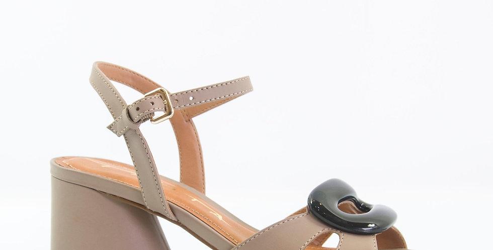 Sandalo Tortora con accessorio