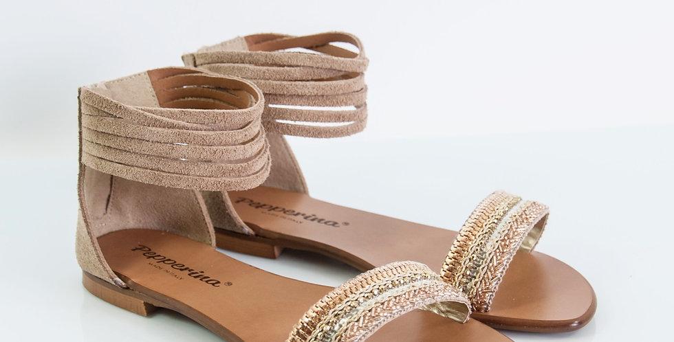 sandalo donna con cavigliera