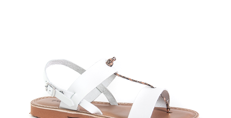 Sandalo donna bianco