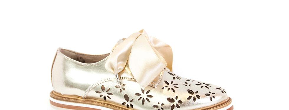 sneakers donna traforata con fiocco