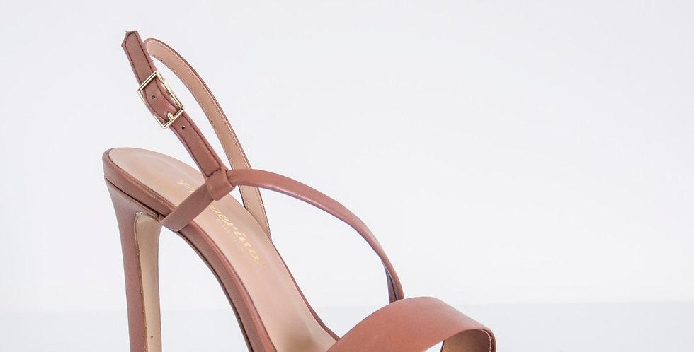 Sandalo con tacco alta color malva