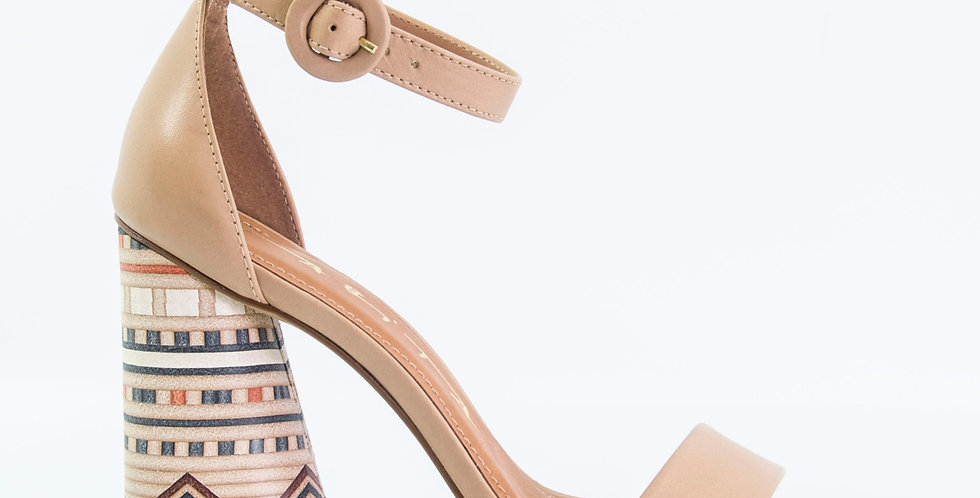 Sandalo Con Tacco Nude
