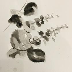 Roald Euller Ink Wash Drawing