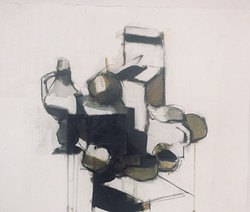 092018_Exhibit_Annual Faculty Show_Mary Freedman, STILL LIFE, graphite carbon acrylic