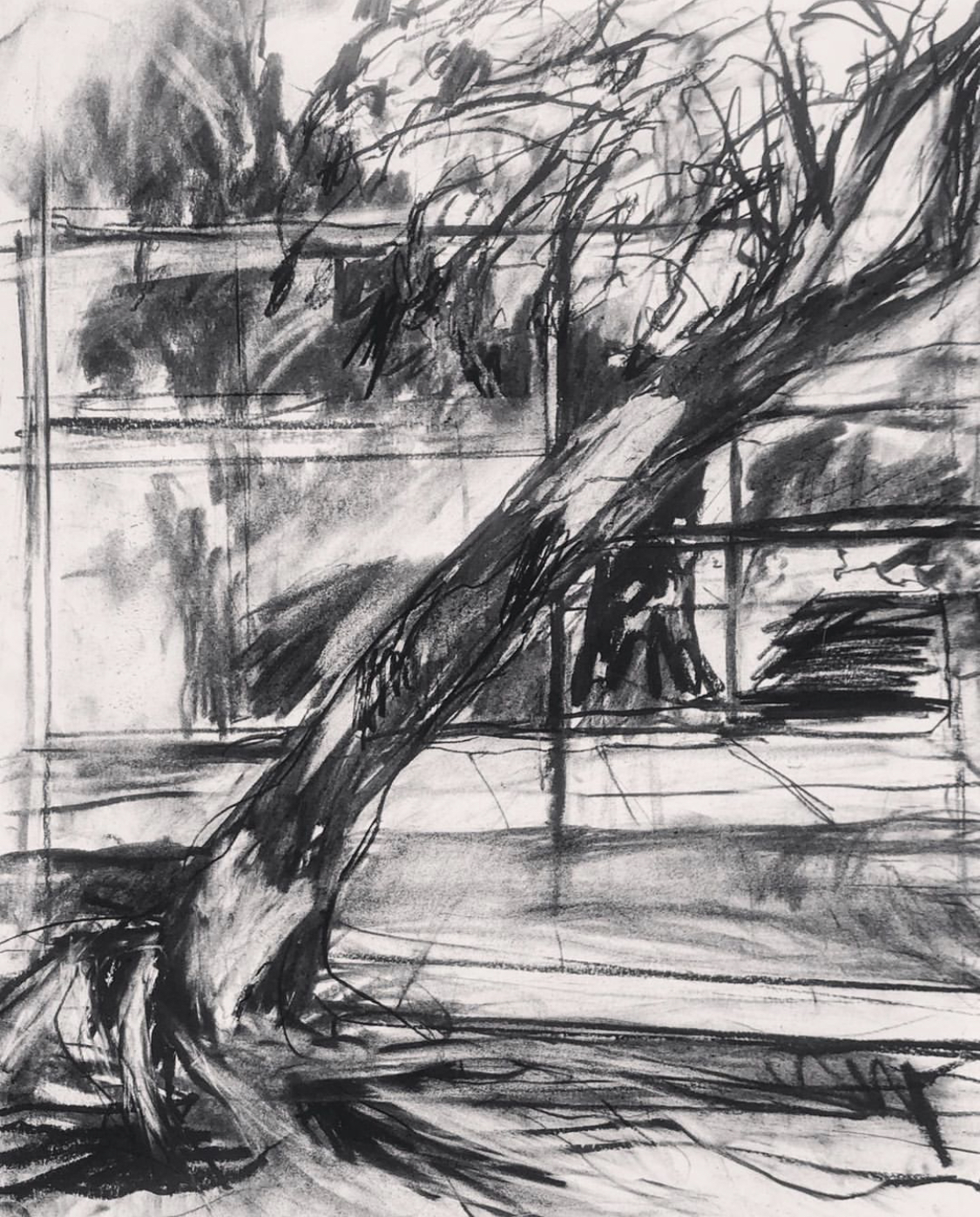 Cate West Zahl-urban sketch