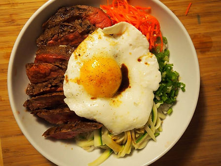 Simon Majumdar's Hanger Steak Garlic Rice Bowl Recipe