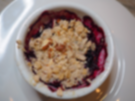 Simon Majumdar's Mixed Berry & Peach Crumble Recipe