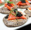 Smoked Salmon Buckwheat Blini by Simon M