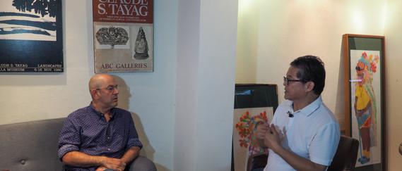 Simon Majumdar and Claude Tayag at Bale Dutung