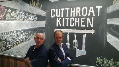 Simon Majumdar and Alton Brown on Cutthroat Kitchen