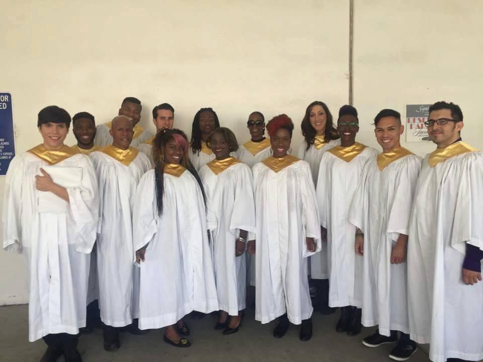 RAISE in white robes at Philpott Memorial