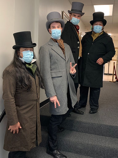#TA in Victorian costumes and masks.JPG