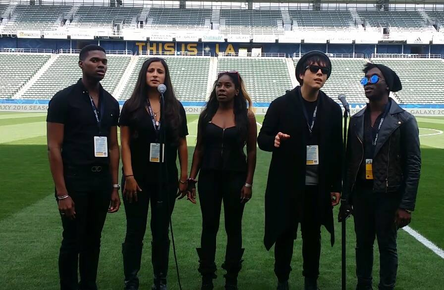 "LA Galaxy ""National Anthem"" RAISE"
