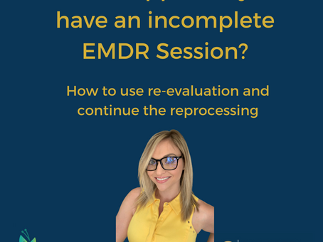 How to pick up an incomplete EMDR target
