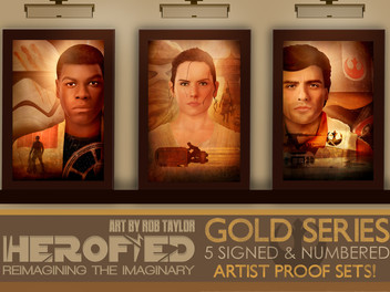 """Introducing My New """"Star Wars: The Force Awakens """"Gold Series"""" prints!"""