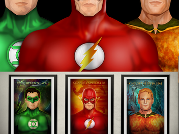 """Introducing the latest members of my """"Justice League"""" collection: Green Lantern, The Flash, and Aqua"""